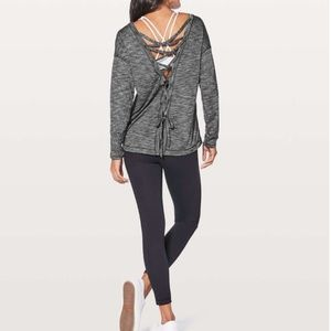 Lululemon Laced With Intent Heathered Black